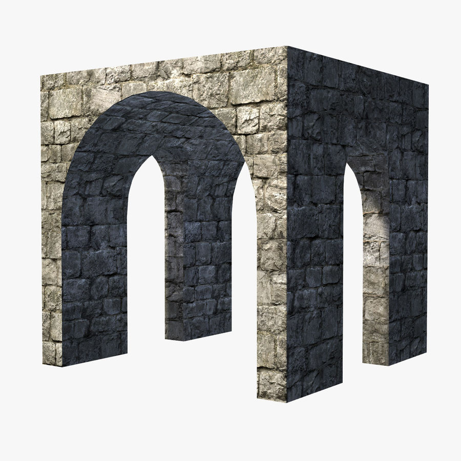 Modular Castle / Dungeon Building Set royalty-free 3d model - Preview no. 12