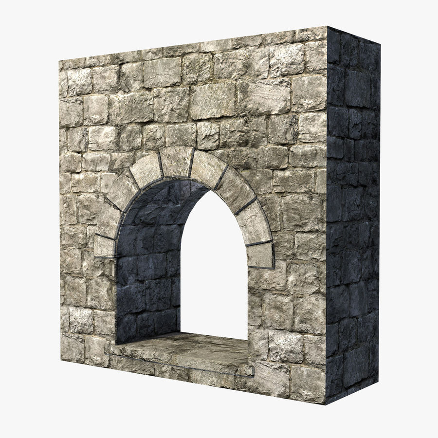 Modular Castle / Dungeon Building Set royalty-free 3d model - Preview no. 19