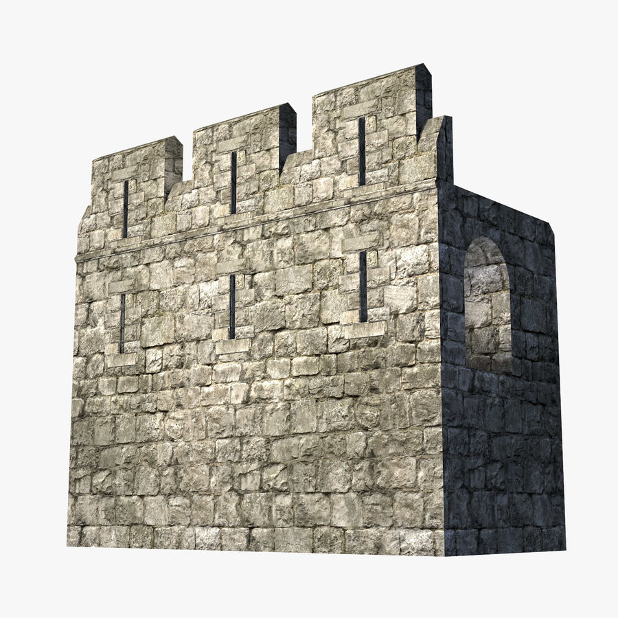 Modular Castle / Dungeon Building Set royalty-free 3d model - Preview no. 6