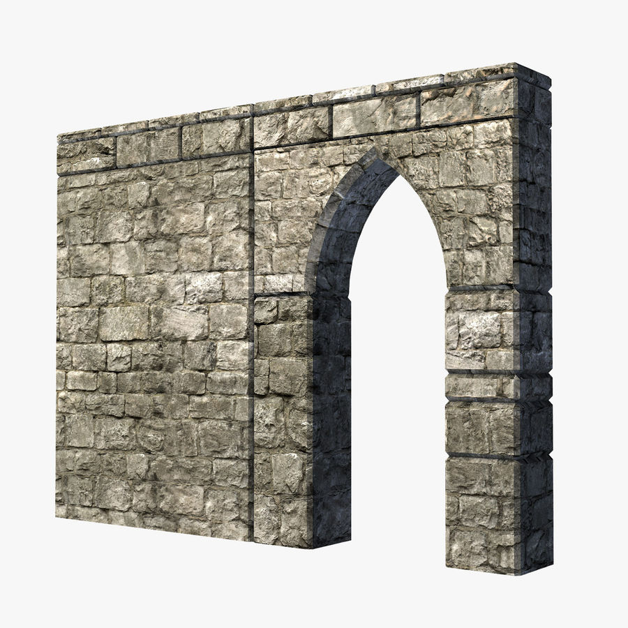 Modular Castle / Dungeon Building Set royalty-free 3d model - Preview no. 31