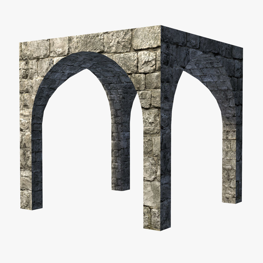 Modular Castle / Dungeon Building Set royalty-free 3d model - Preview no. 10