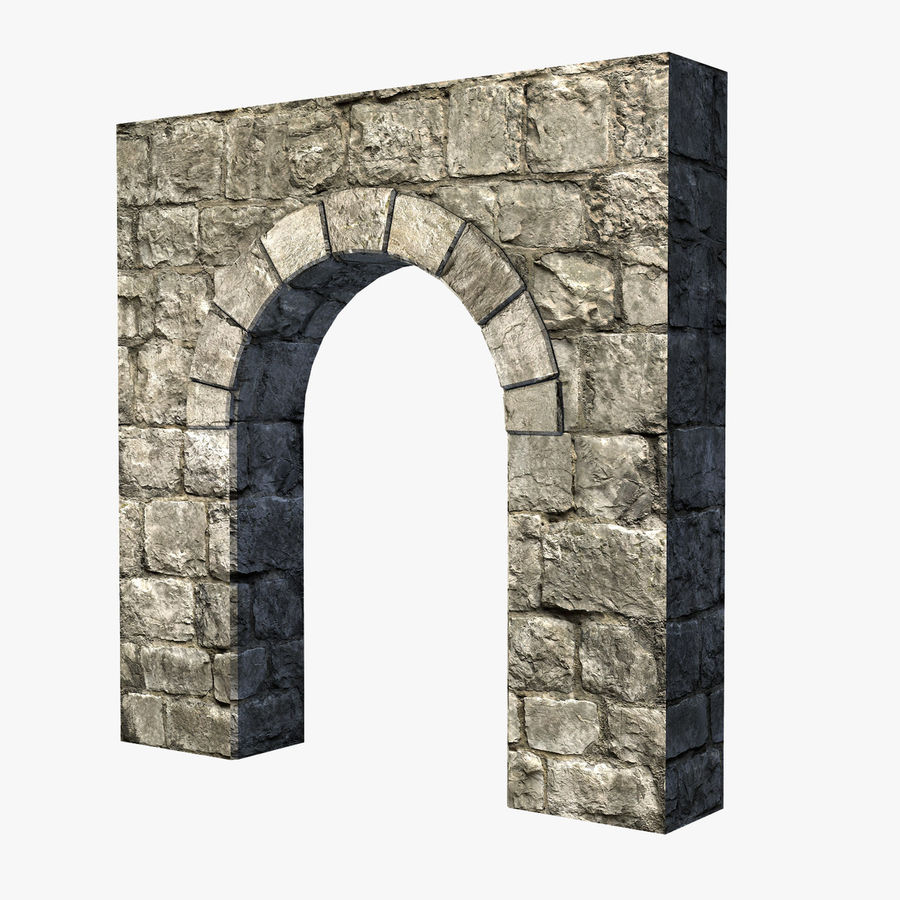 Modular Castle / Dungeon Building Set royalty-free 3d model - Preview no. 9