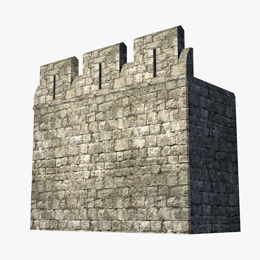 Modular Castle / Dungeon Building Set royalty-free 3d model - Preview no. 5