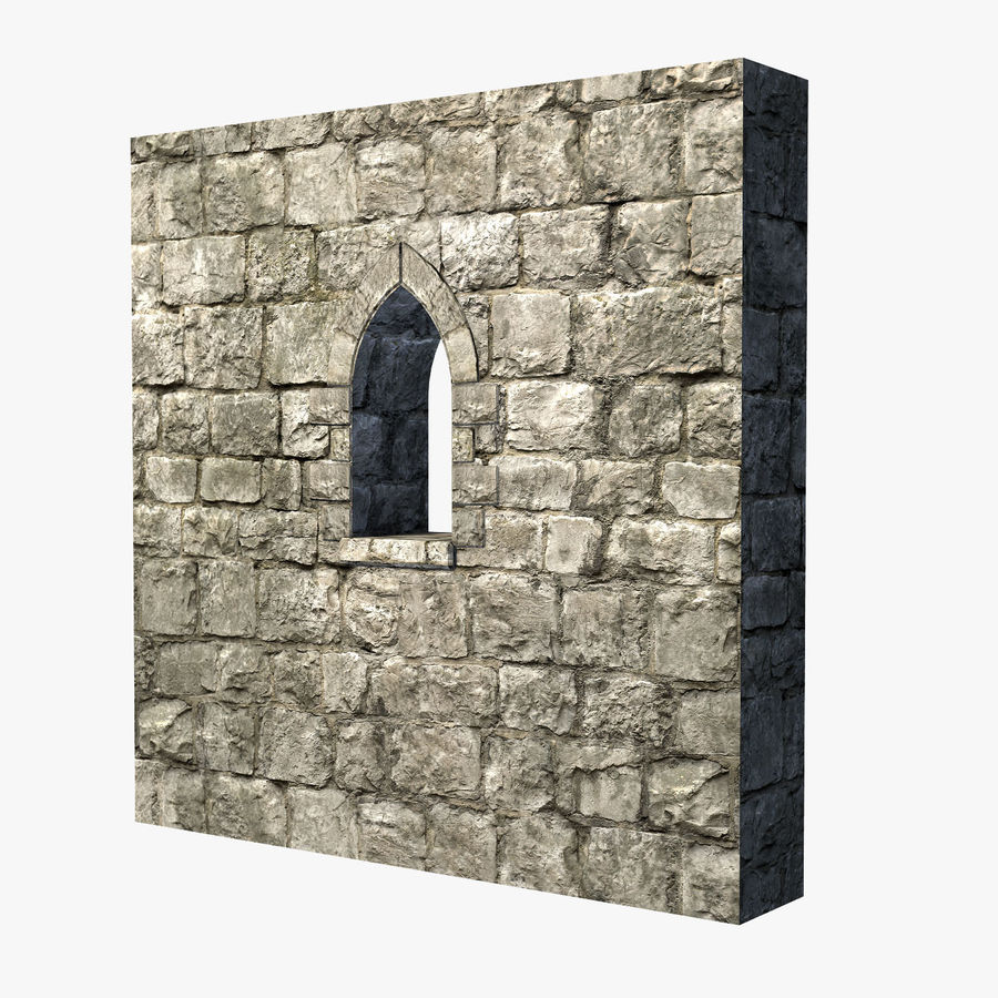 Modular Castle / Dungeon Building Set royalty-free 3d model - Preview no. 16