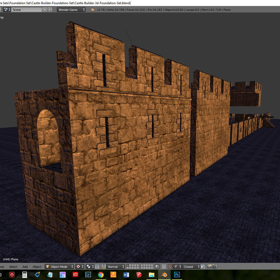 Modular Castle / Dungeon Building Set royalty-free 3d model - Preview no. 4