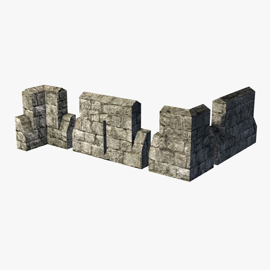 Modular Castle / Dungeon Building Set royalty-free 3d model - Preview no. 27