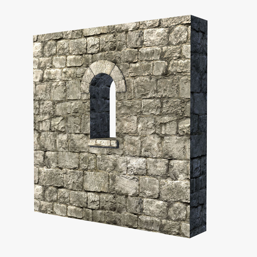 Modular Castle / Dungeon Building Set royalty-free 3d model - Preview no. 14