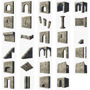Modular Castle / Dungeon Building Set 3d model