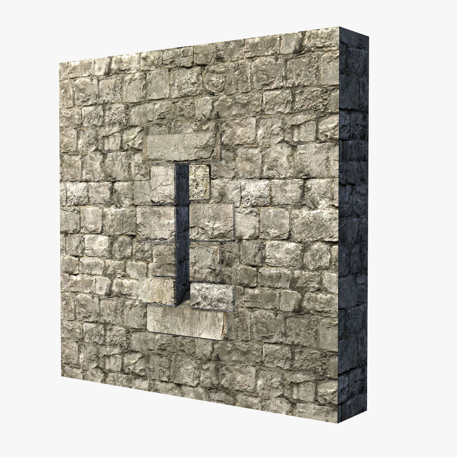 Modular Castle / Dungeon Building Set royalty-free 3d model - Preview no. 15