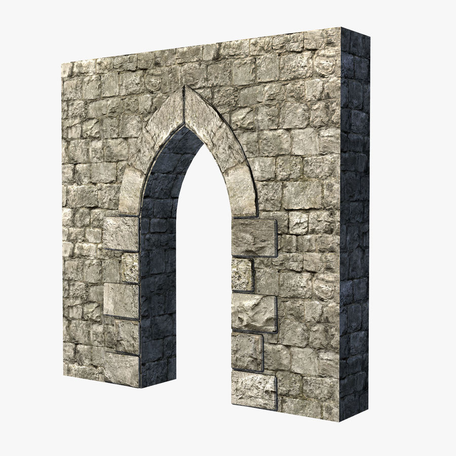 Modular Castle / Dungeon Building Set royalty-free 3d model - Preview no. 17
