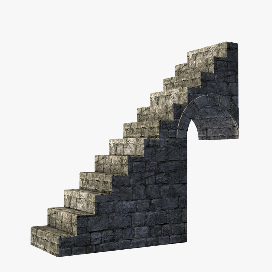 Modular Castle / Dungeon Building Set royalty-free 3d model - Preview no. 29
