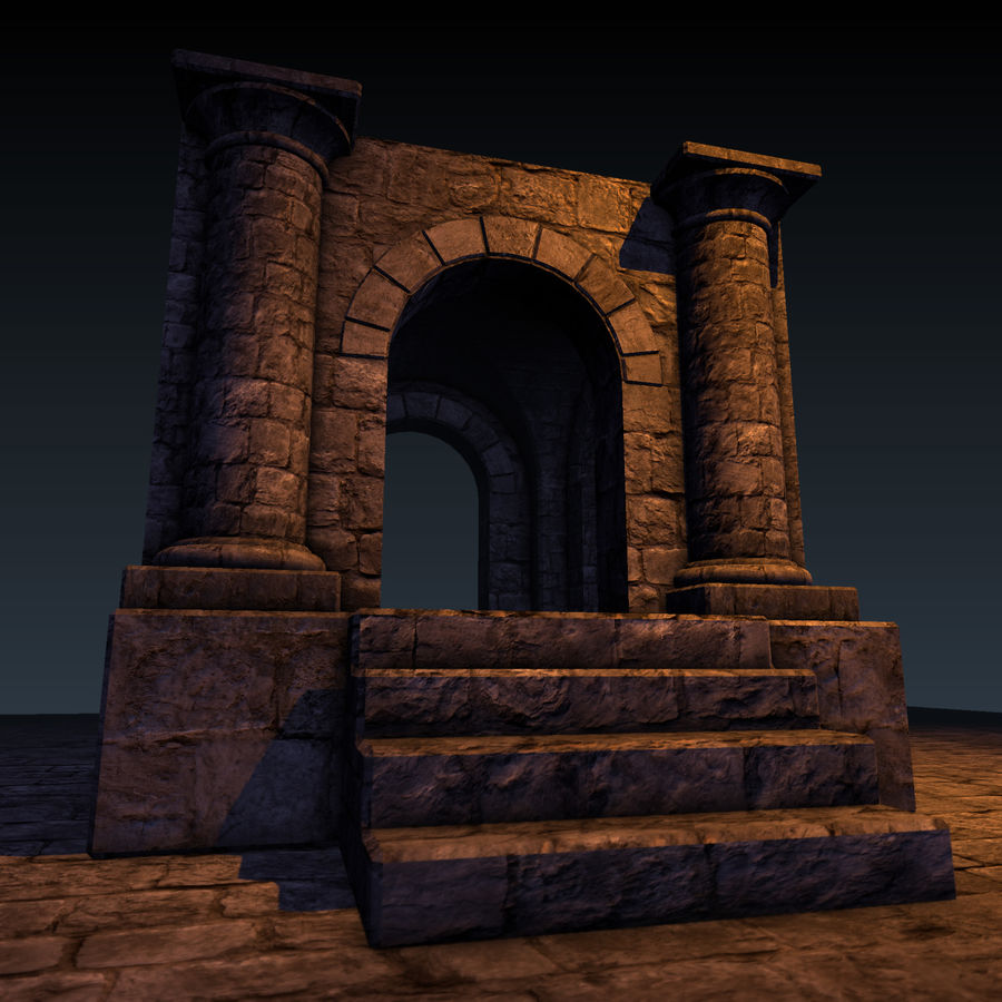 Modular Castle / Dungeon Building Set royalty-free 3d model - Preview no. 38