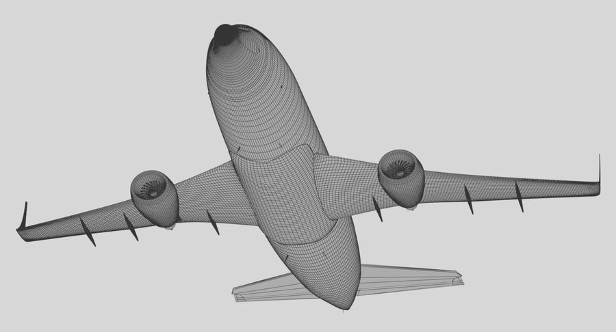 Jet Airplane royalty-free 3d model - Preview no. 24