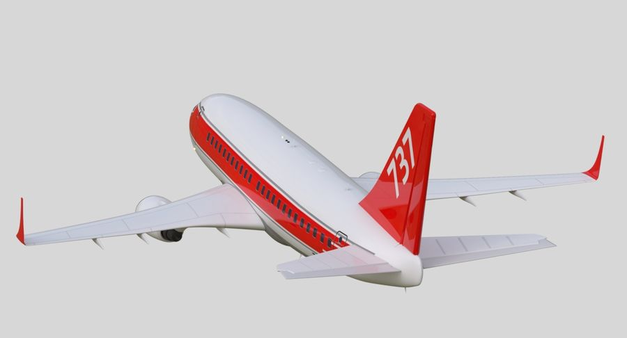 Jet Airplane royalty-free 3d model - Preview no. 21