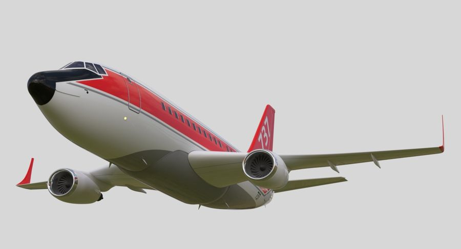 Jet Airplane royalty-free 3d model - Preview no. 17