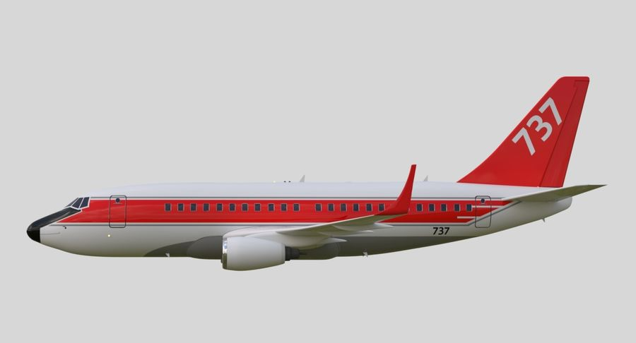 Jet Airplane royalty-free 3d model - Preview no. 19