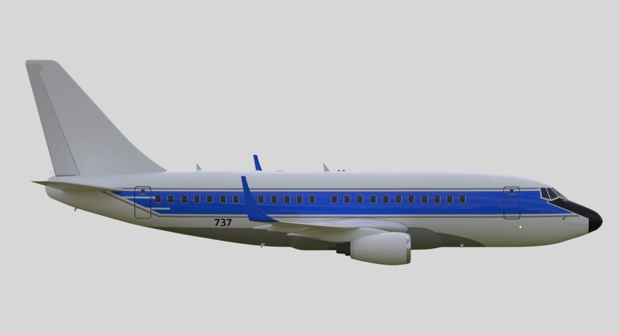 Jet Airplane royalty-free 3d model - Preview no. 4
