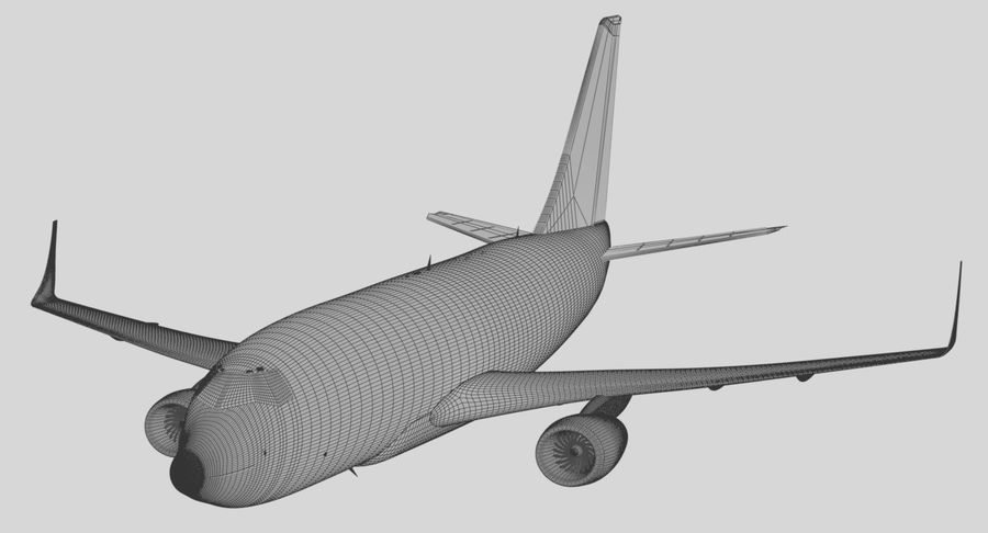 Avião a jato royalty-free 3d model - Preview no. 22