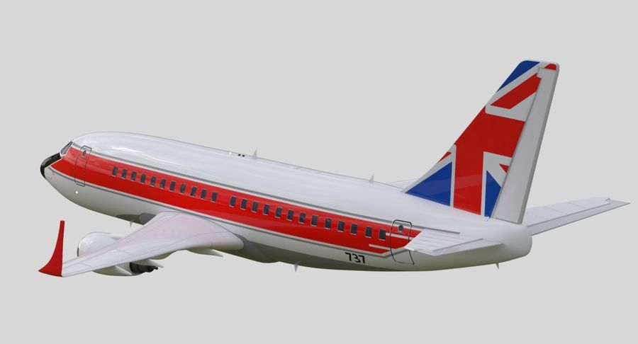 Avião a jato royalty-free 3d model - Preview no. 15