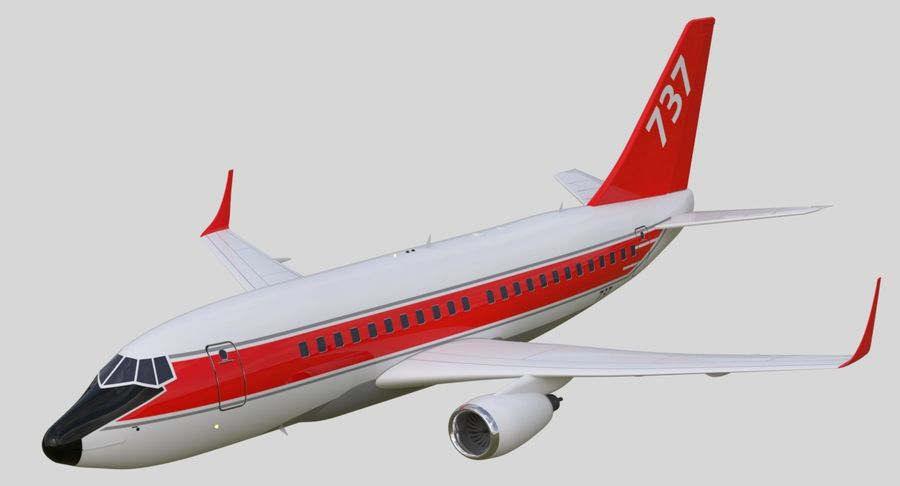 Jet Airplane royalty-free 3d model - Preview no. 16