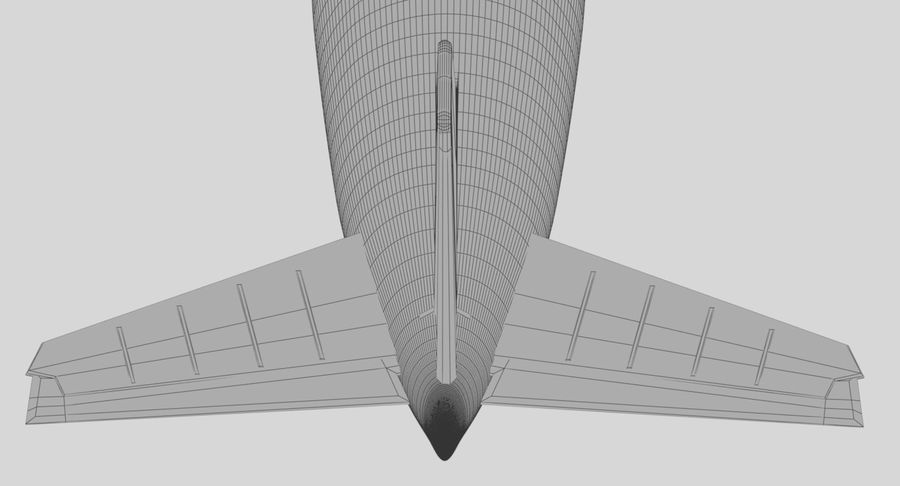 Avião a jato royalty-free 3d model - Preview no. 28