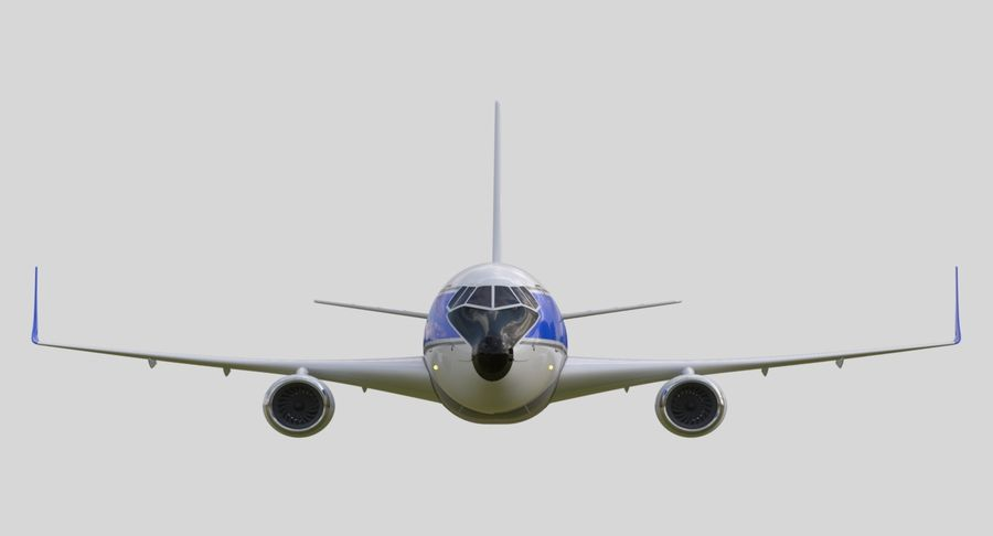 Jet Airplane royalty-free 3d model - Preview no. 6