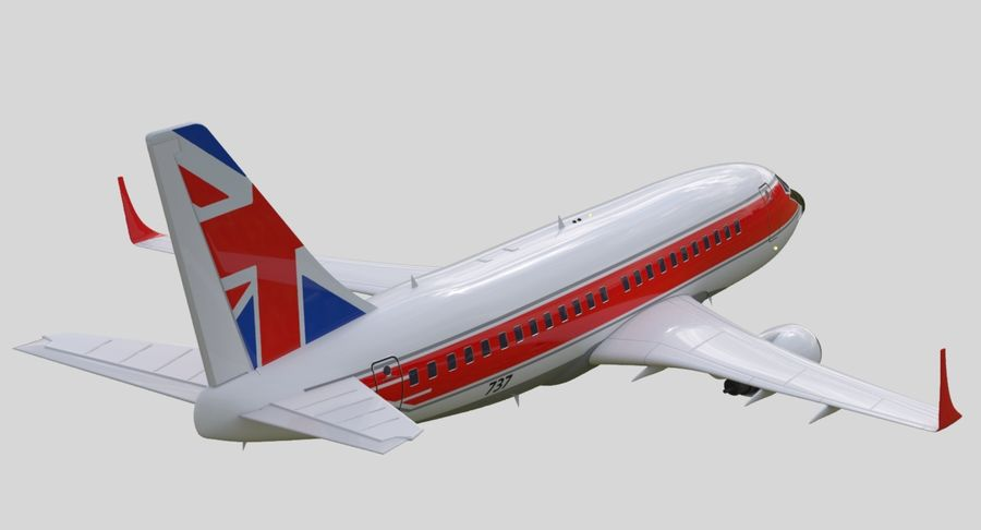Jet Airplane royalty-free 3d model - Preview no. 12