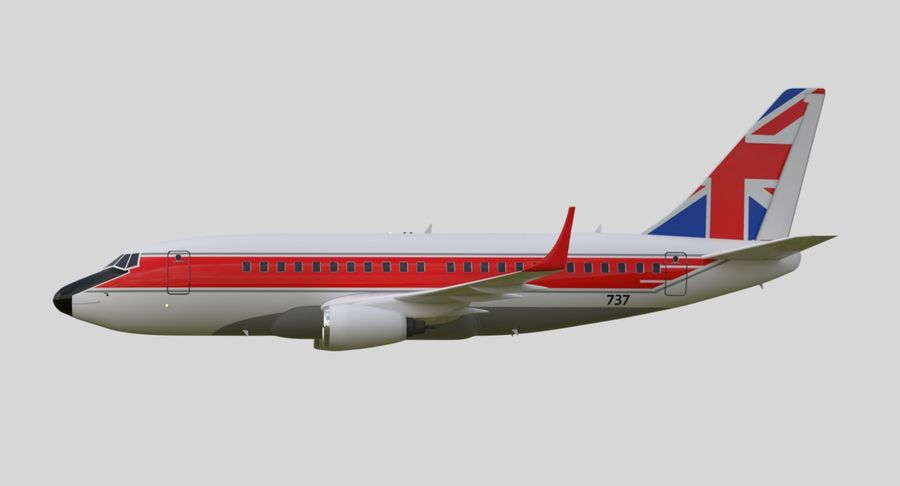 Jet Airplane royalty-free 3d model - Preview no. 14