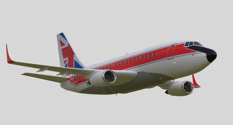 Jet Airplane royalty-free 3d model - Preview no. 11