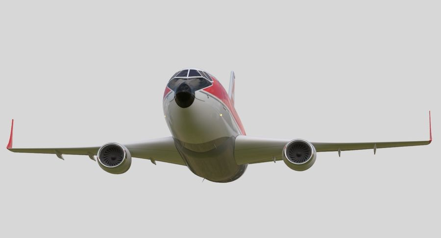 Avião a jato royalty-free 3d model - Preview no. 9