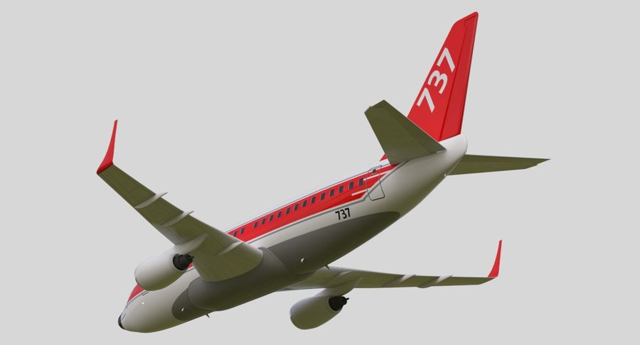 Jet Airplane royalty-free 3d model - Preview no. 20