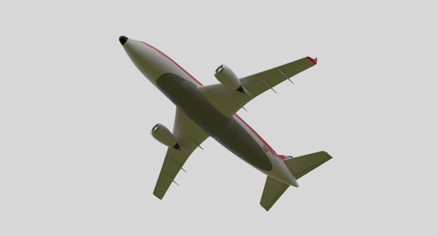 Jet Airplane royalty-free 3d model - Preview no. 13