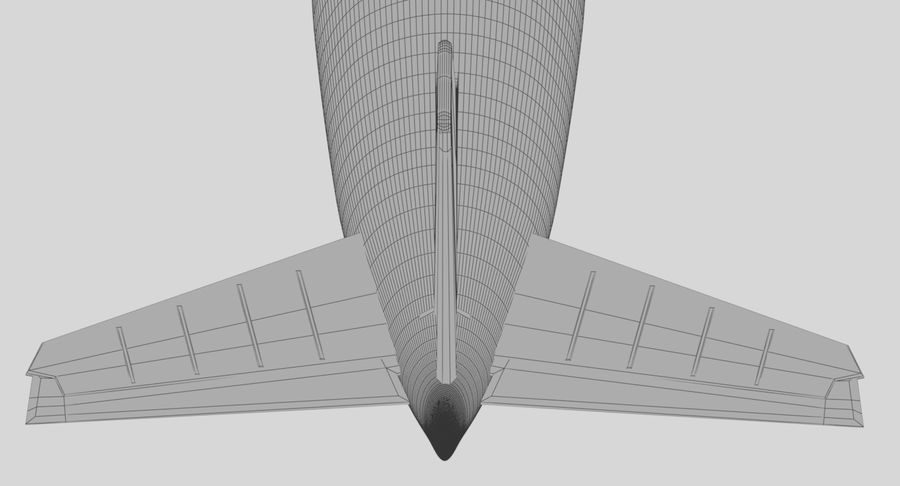 Jet Airplane royalty-free 3d model - Preview no. 28