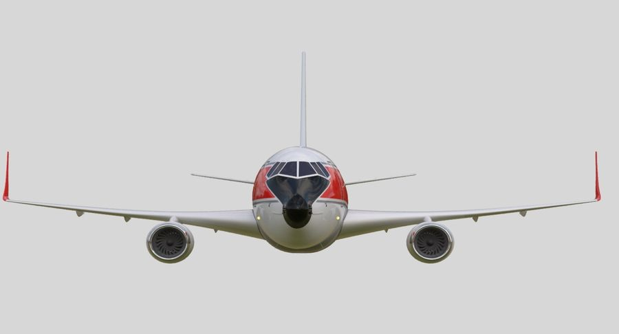 Jet Airplane royalty-free 3d model - Preview no. 10