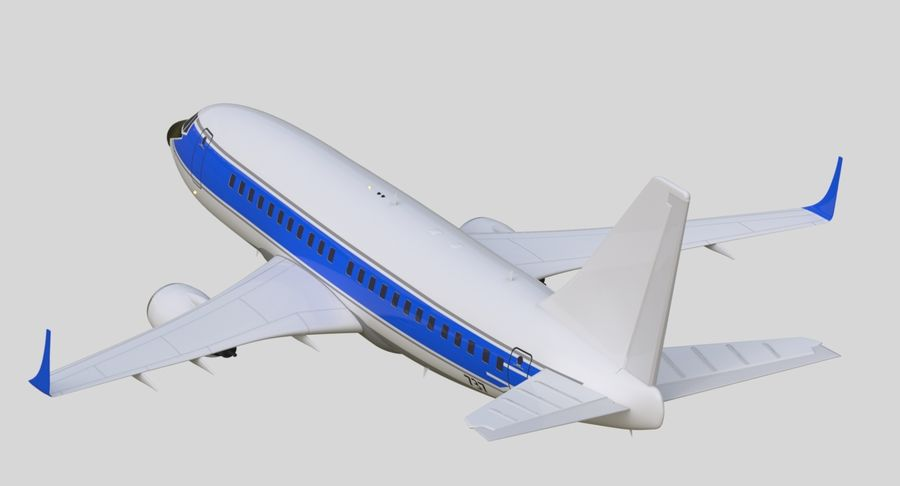Jet Airplane royalty-free 3d model - Preview no. 7