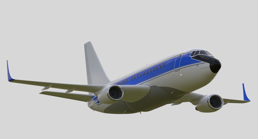 Jet Airplane royalty-free 3d model - Preview no. 3