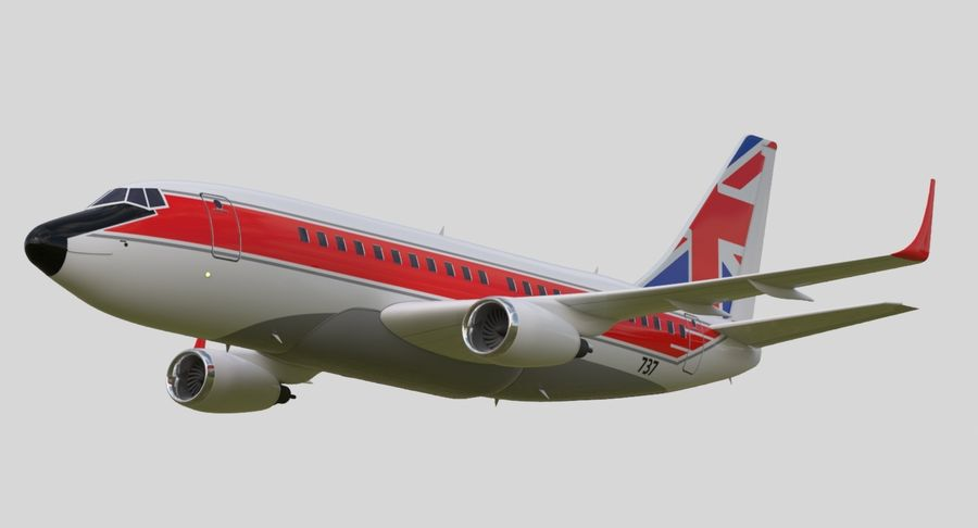 Jet Airplane royalty-free 3d model - Preview no. 8