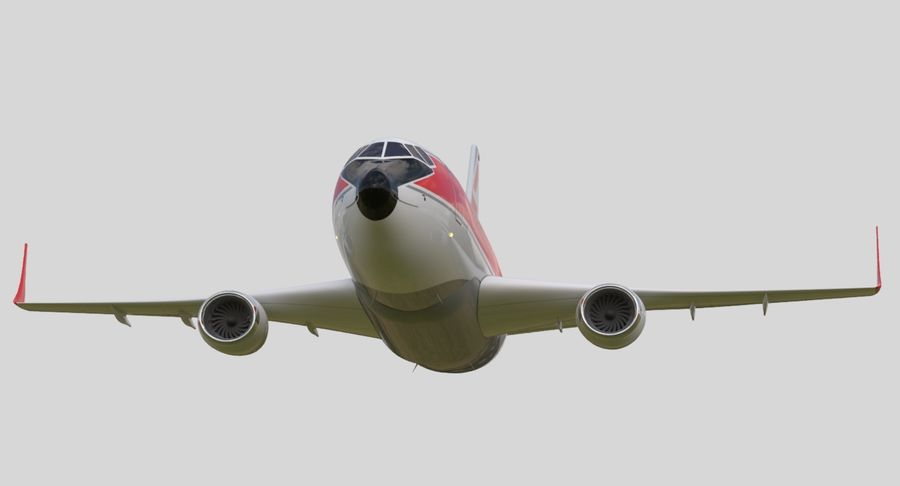 Jet Airplane royalty-free 3d model - Preview no. 9
