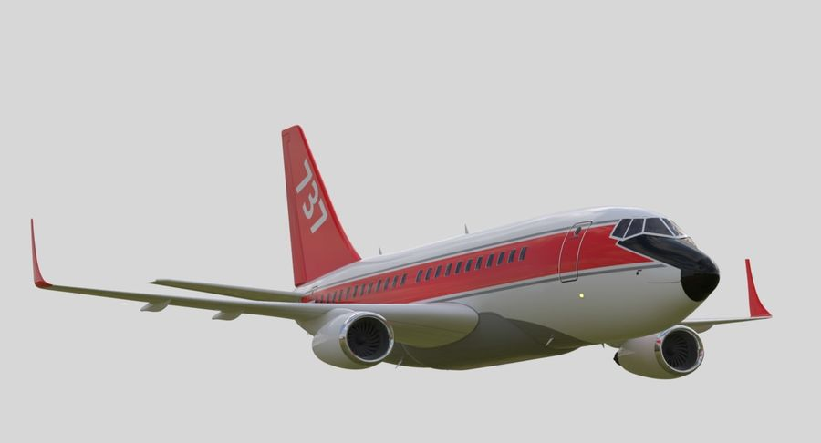 Avião a jato royalty-free 3d model - Preview no. 18