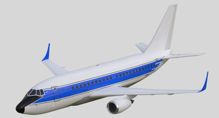 제트 비행기 royalty-free 3d model - Preview no. 2