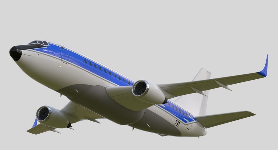 Jet Airplane royalty-free 3d model - Preview no. 1