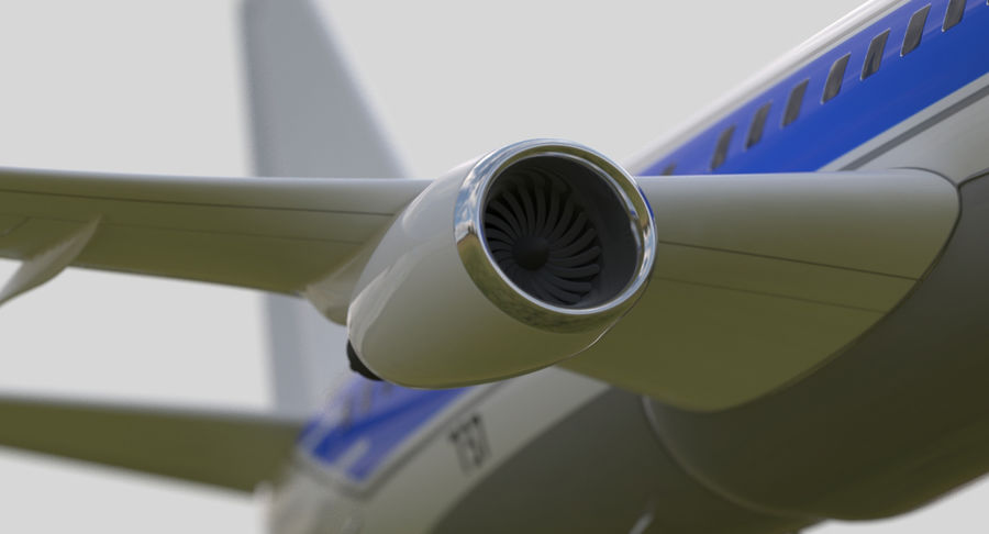 Jet Airplane royalty-free 3d model - Preview no. 5