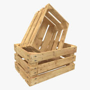 Wooden Fruit Crate 3d model