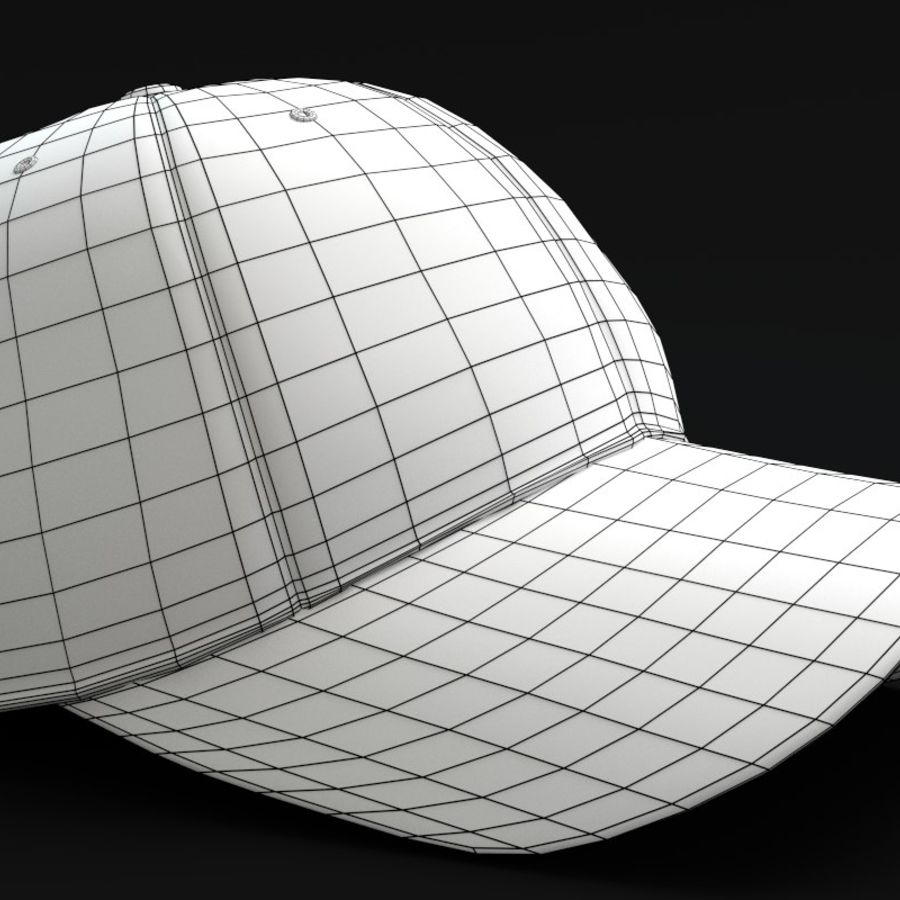 Gorra de beisbol royalty-free modelo 3d - Preview no. 6