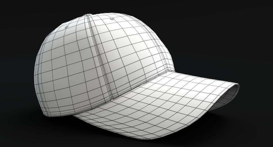 Baseball Kappe royalty-free 3d model - Preview no. 6