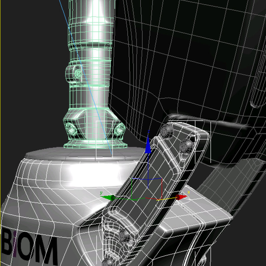 의족 다리 royalty-free 3d model - Preview no. 7