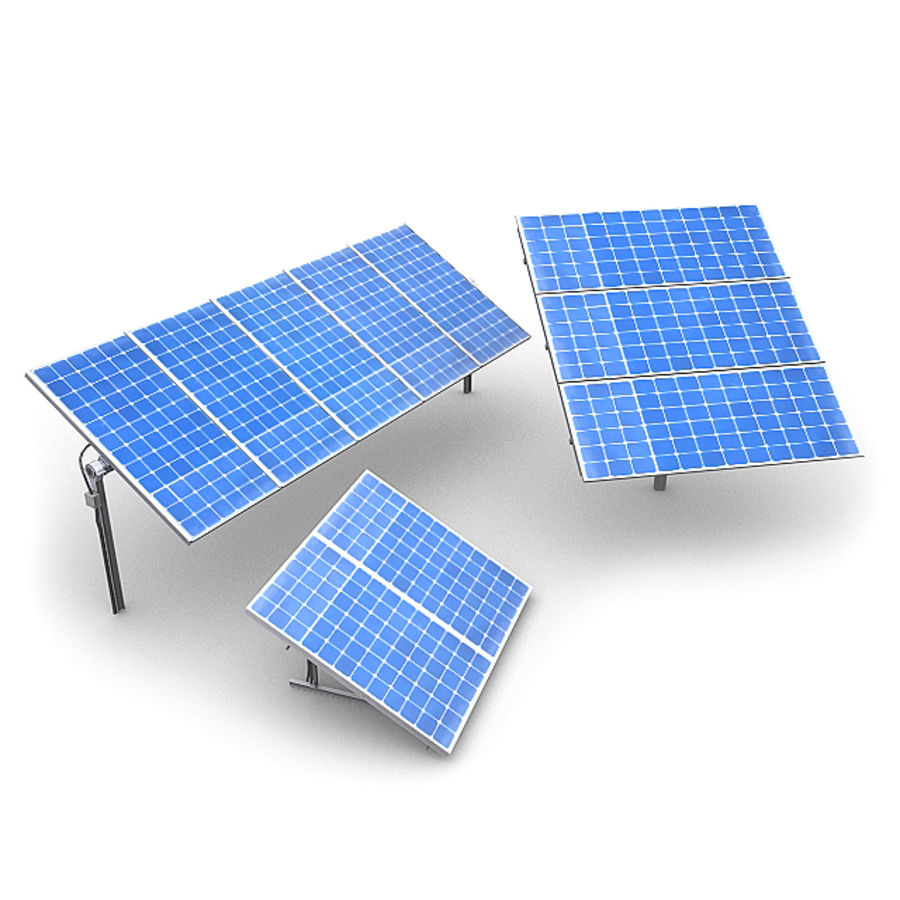 Solar Panels 1 royalty-free 3d model - Preview no. 1
