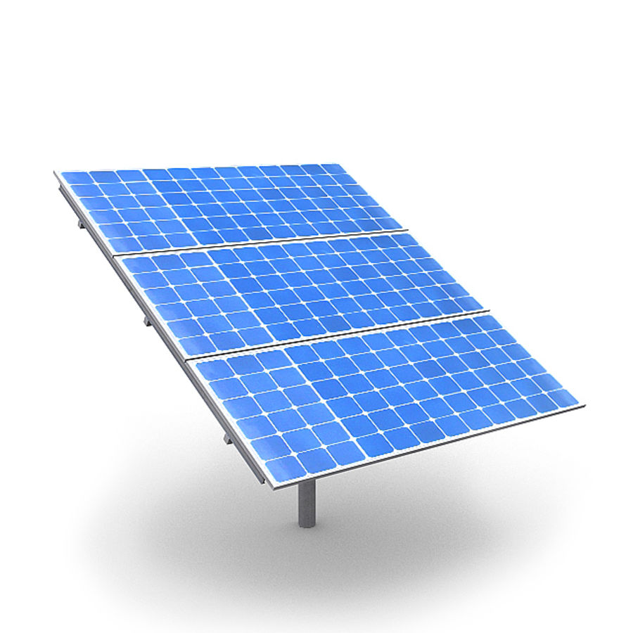 Solar Panels 1 royalty-free 3d model - Preview no. 6