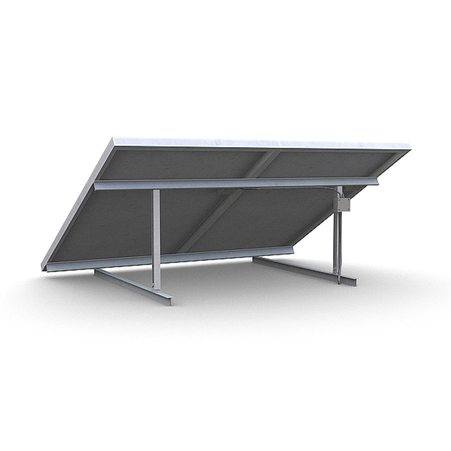 Solar Panels 1 royalty-free 3d model - Preview no. 3