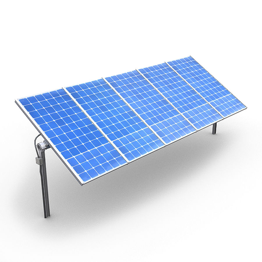 Solar Panels 1 royalty-free 3d model - Preview no. 4